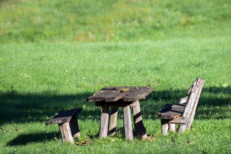 Posto romantico di picnic immagini stock libere da diritti