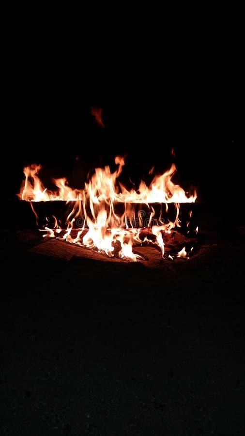 Posto a tarda notte del fuoco immagine stock libera da diritti