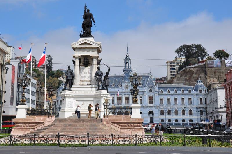 Posto in Valparaiso, Cile del de Cile dell'armada immagini stock