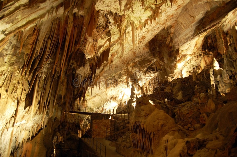 Postojna Höhle stockfotos