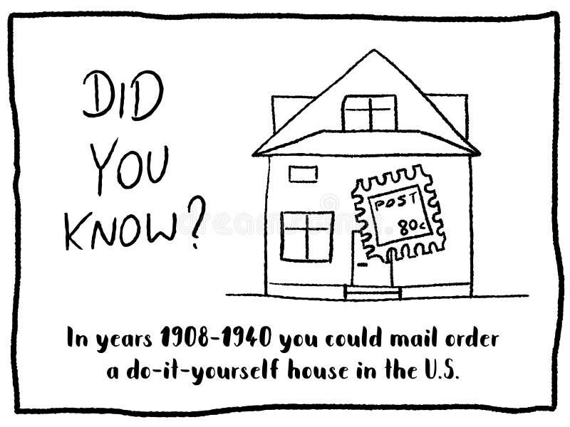 Postorderhuis stock illustratie