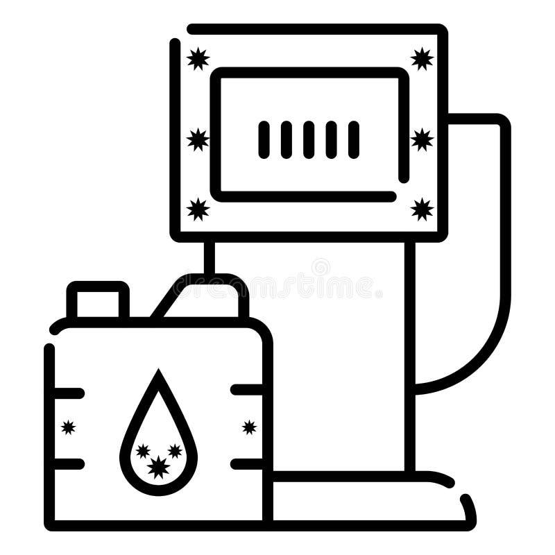 Postos de gasolina do biodiesel ou do combustível biológico ilustração stock