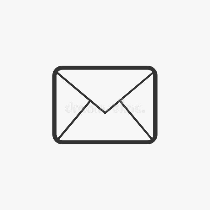 Postpictogram, enveloppost, brief, envelop royalty-vrije illustratie