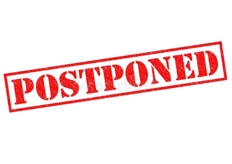 postponed ilustração do vetor
