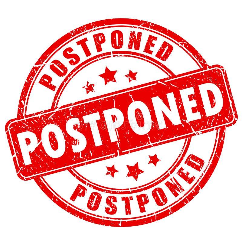 Postponed rubber vector stamp royalty free illustration