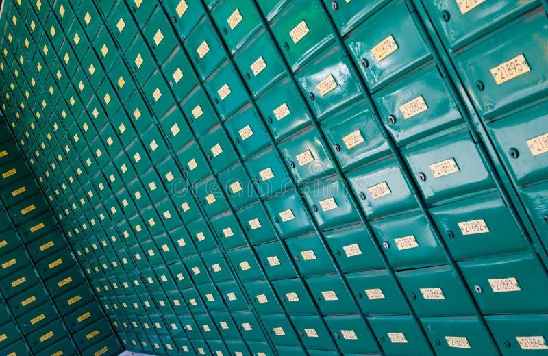 Postpostkästen lizenzfreie stockbilder