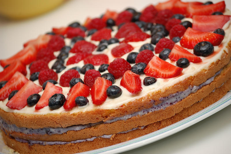 Postre de la torta de la fruta fotografía de archivo libre de regalías