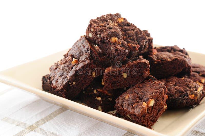 Postre de los brownie imagen de archivo libre de regalías