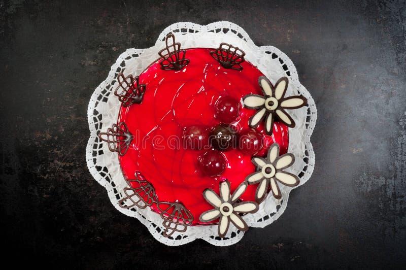 Postre Delicioso En La Placa Foto de archivo libre de regalías