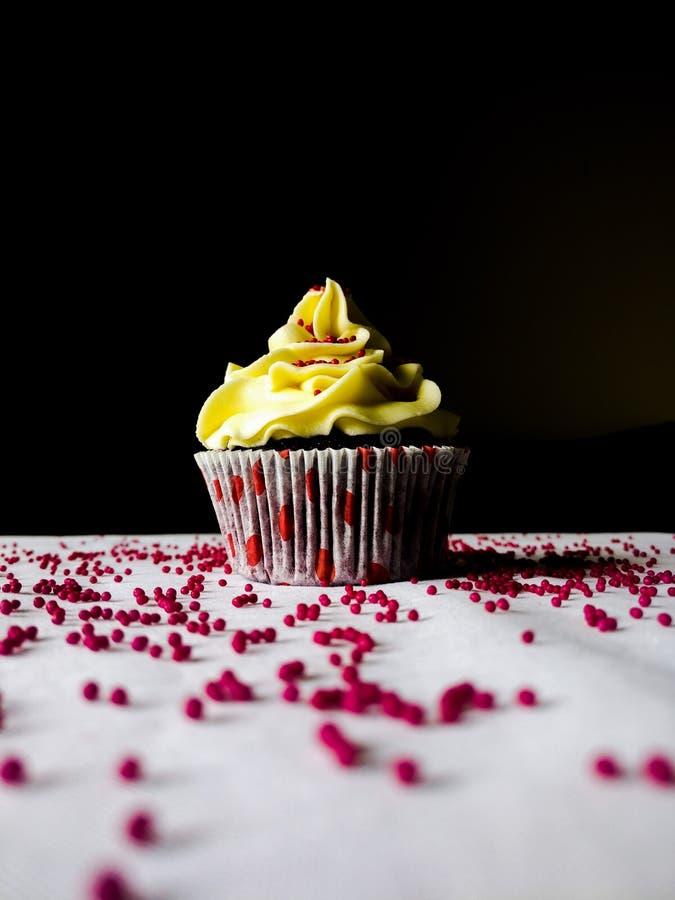 Postre delicioso hermoso delicioso de la torta de la magdalena foto de archivo libre de regalías