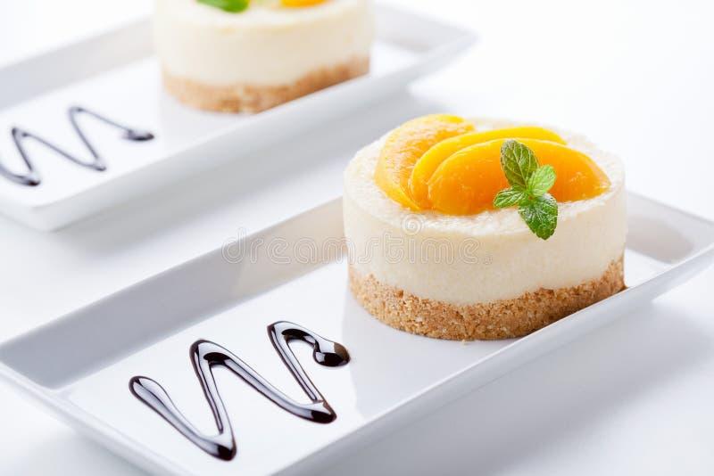 Postre dulce del pastel de queso fotografía de archivo