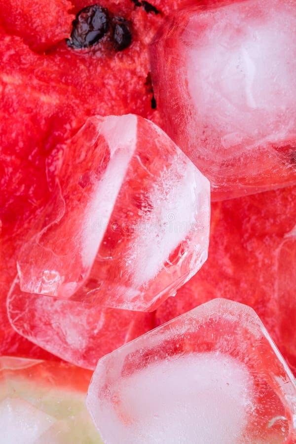 Postre fresco delicioso del dulce de la fruta del verano del polo de la sand?a imagen de archivo libre de regalías