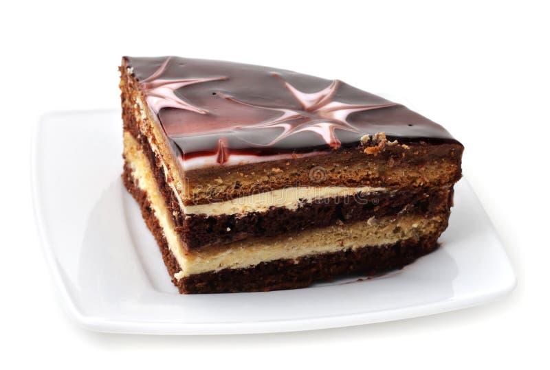 Postre - pastel de queso del chocolate imágenes de archivo libres de regalías