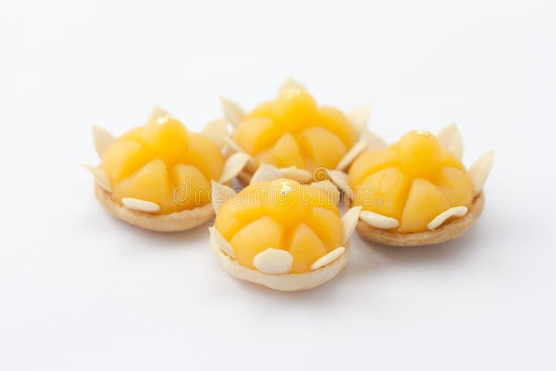 Postre tailandés del dulce de la tradición de la forma de la corona imagenes de archivo