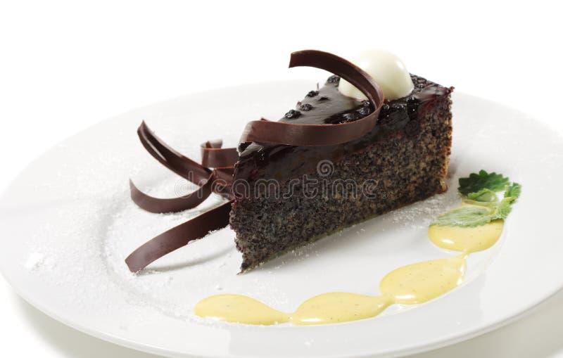 Postre - torta de chocolate foto de archivo libre de regalías