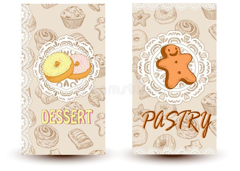 Postres y pasteles imágenes de archivo libres de regalías