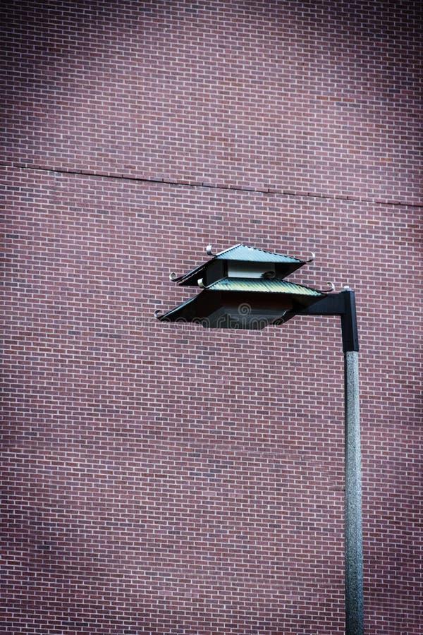 Posts chinos de la lámpara en Boston's Chinatown fotos de archivo libres de regalías