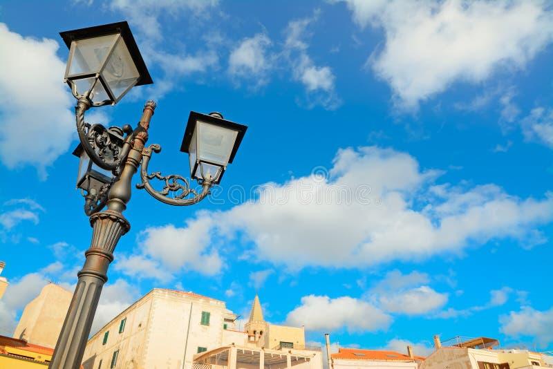 Posts clásicos de la lámpara imagen de archivo