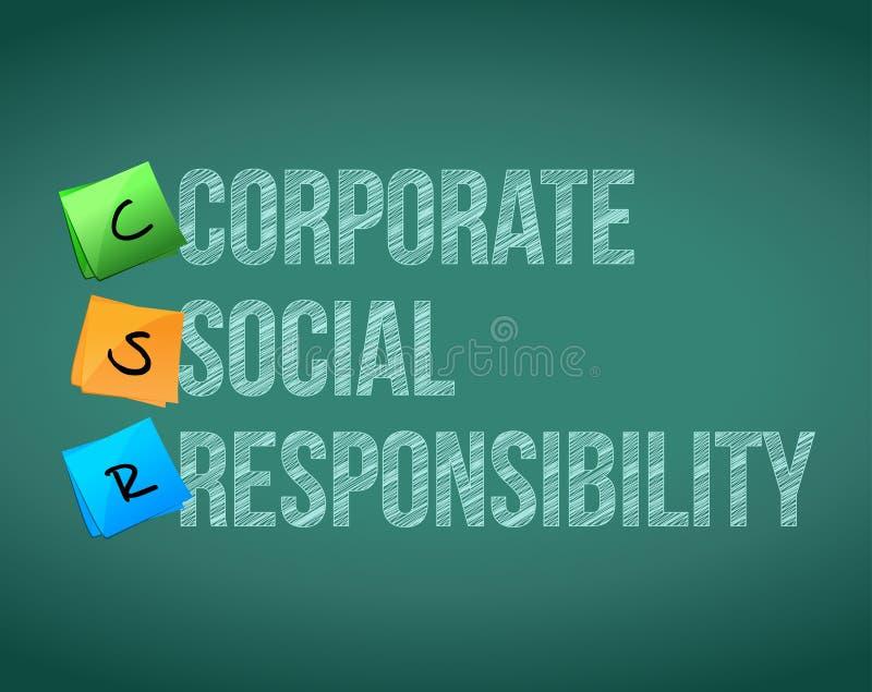 Posts de gestión corporativos de la responsabilidad stock de ilustración