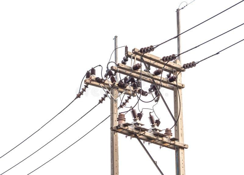 Posts de la electricidad fotografía de archivo libre de regalías