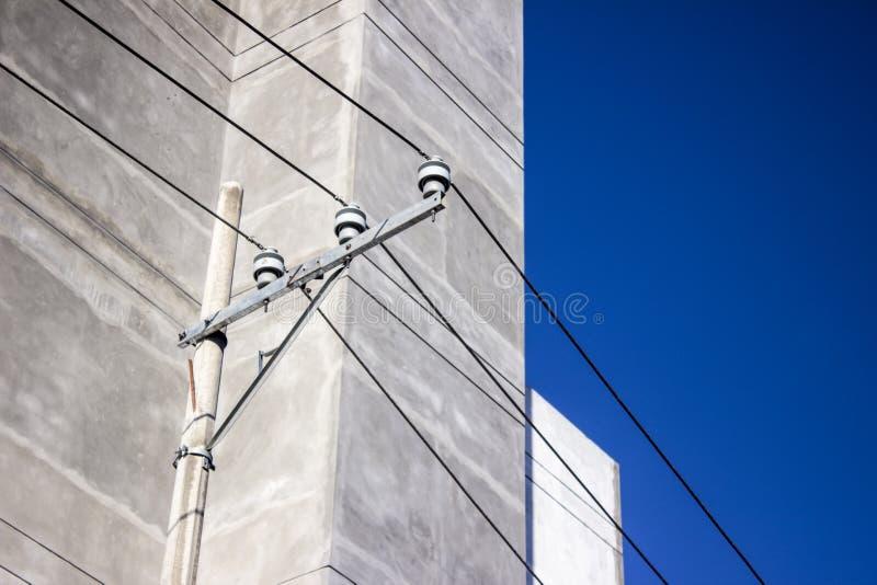 Posts de la electricidad de la calle fotos de archivo