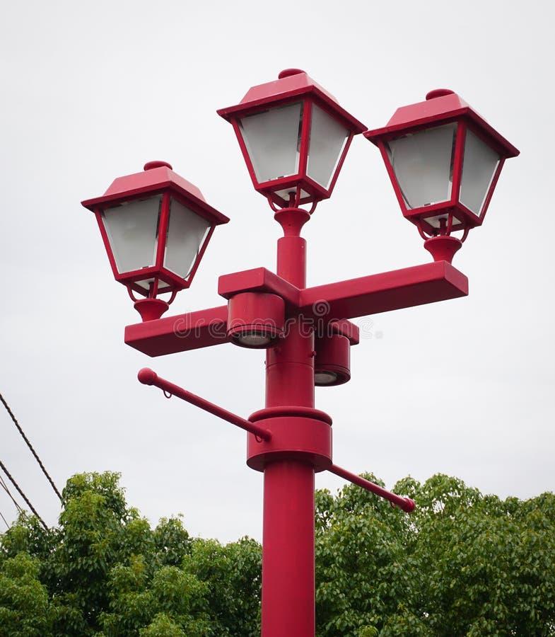 posts de la lámpara del Chino-estilo fotografía de archivo libre de regalías