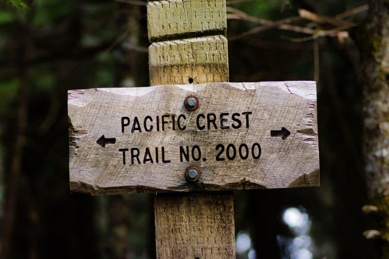 Posts de muestra para el rastro de la cresta del Pacífico del rastro 2000 imágenes de archivo libres de regalías