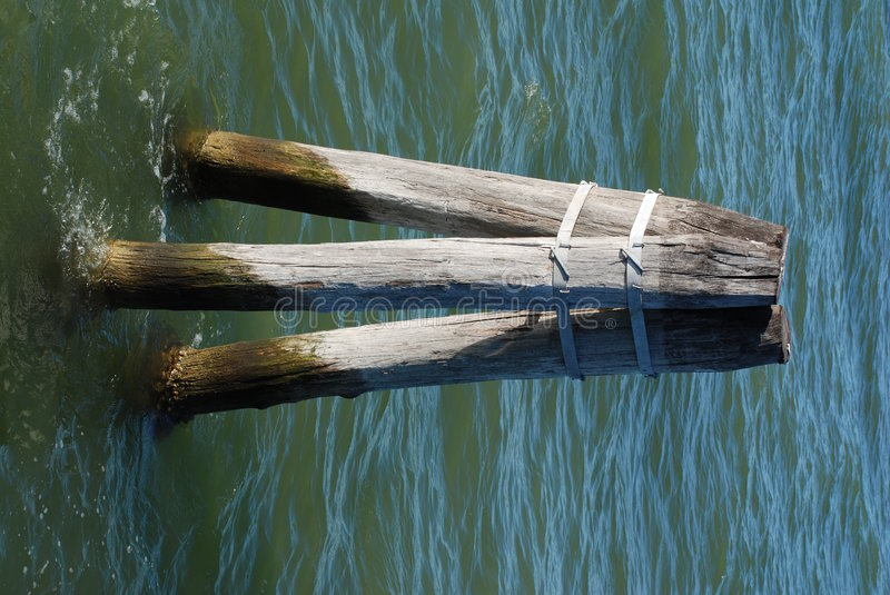 Download Posts Sticking Out Of Water Stock Photo - Image: 4525660
