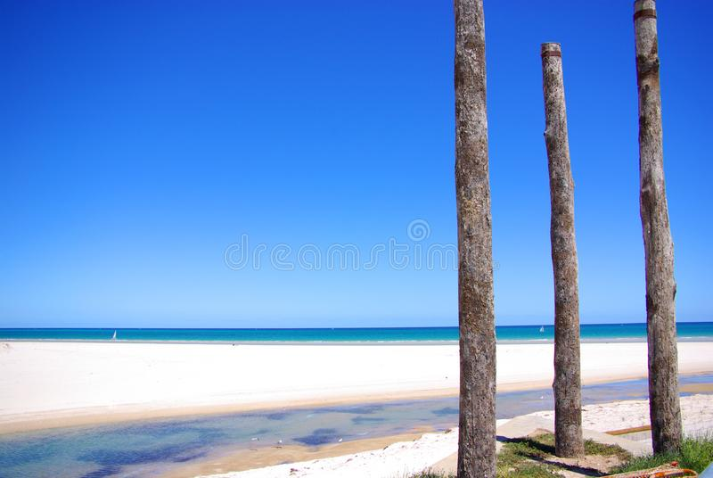 Posts & West Beach royalty free stock images
