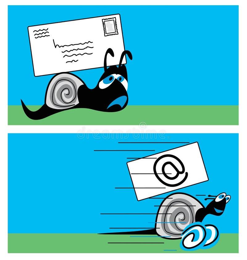 postsnail vektor illustrationer