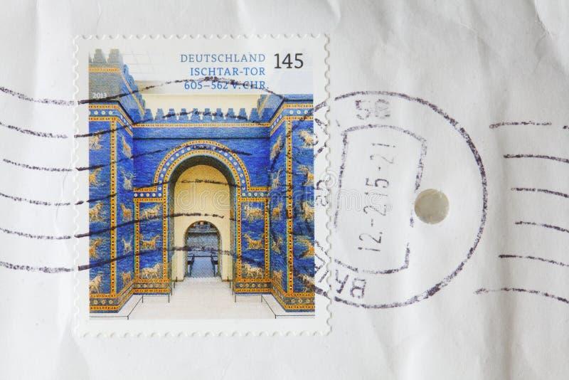 Poststamp foto de stock