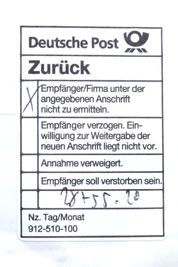 Poststamp editorial image. Image of post, unknown, deutsche - 77343445
