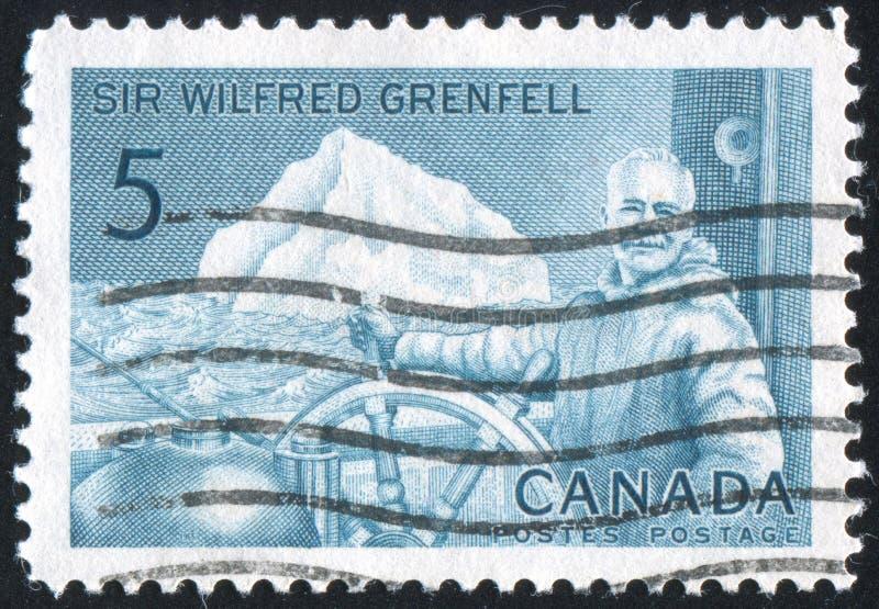 Poststamp impreso por el Canadá fotografía de archivo