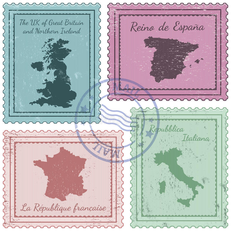 Poststempel 2 lizenzfreie abbildung