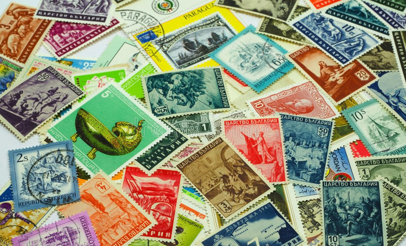 Poststempel stockfoto