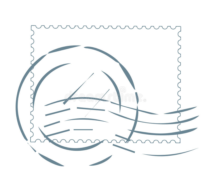 Poststempel-Design stock abbildung