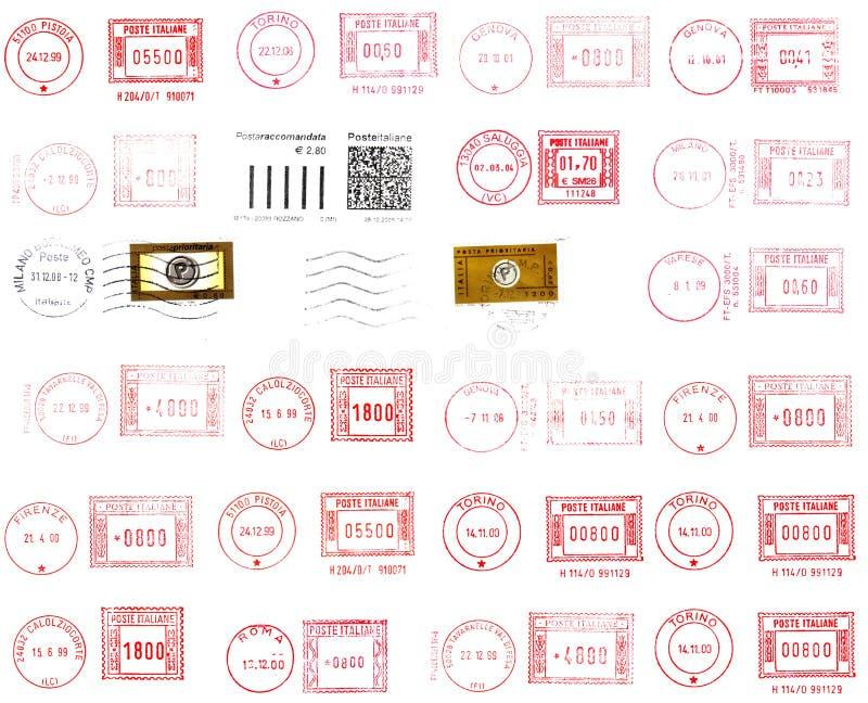 Poststempel und Kennsätze stock abbildung