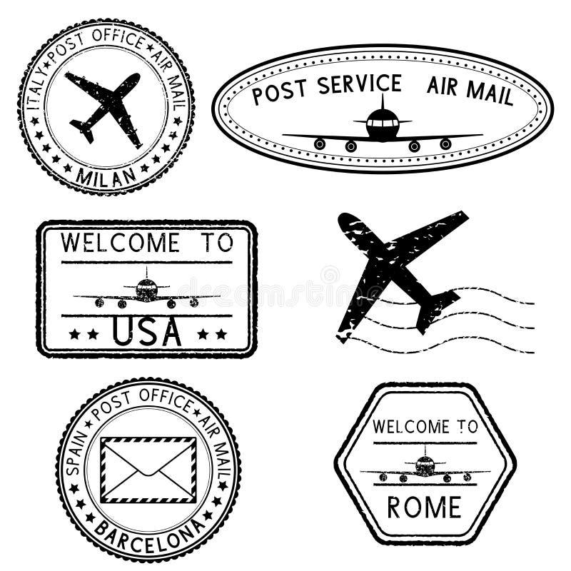 Poststempel und Reisestempel vektor abbildung