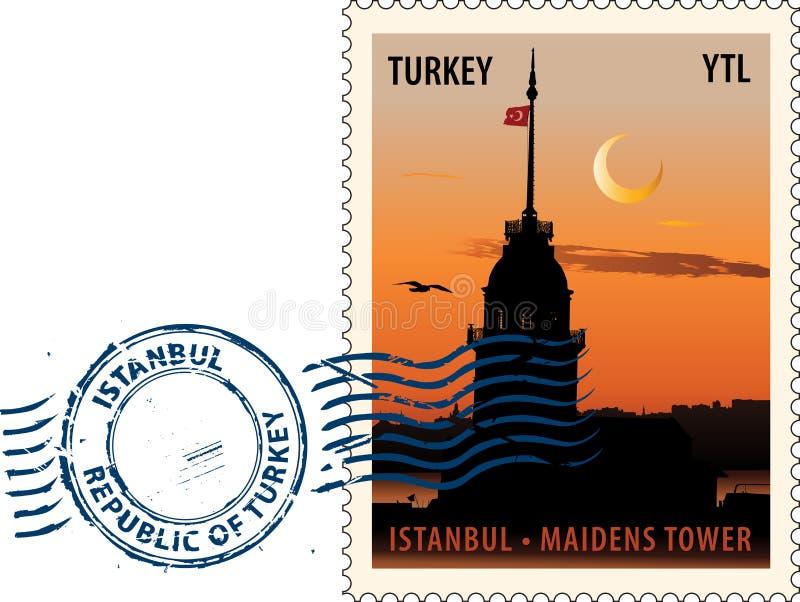 Poststempel von Istanbul lizenzfreie abbildung