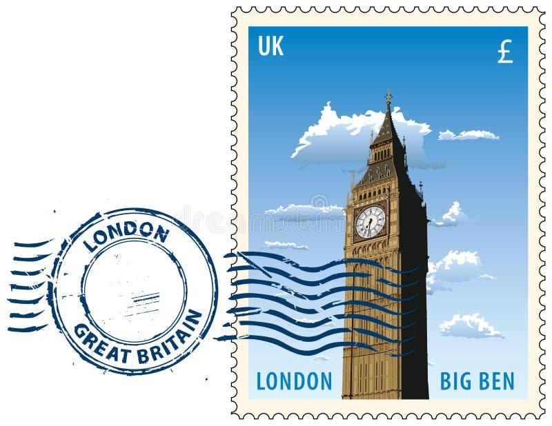 Poststempel von London stock abbildung