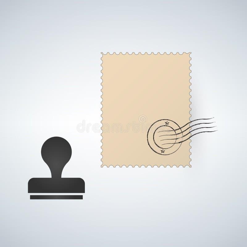 Poststempelschablone Dichtung und Stempel Auch im corel abgehobenen Betrag lizenzfreie abbildung