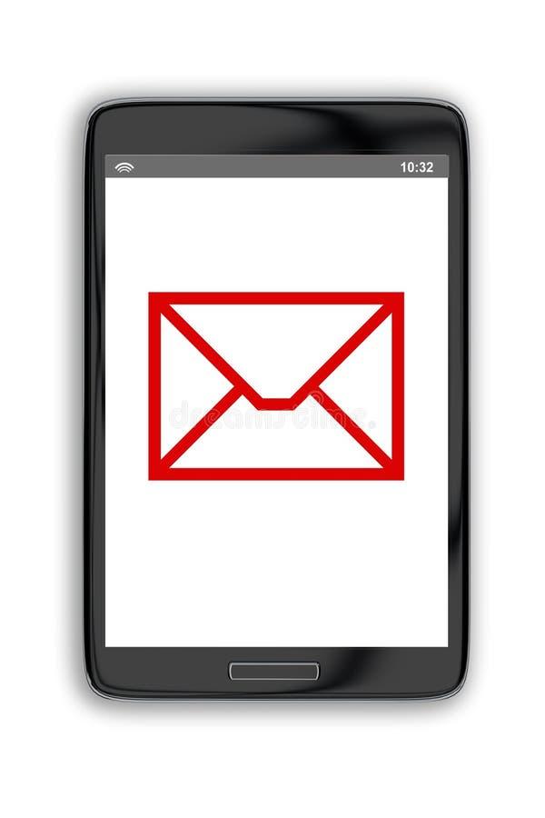 Postsymbol på smartphoneskärmen royaltyfri illustrationer