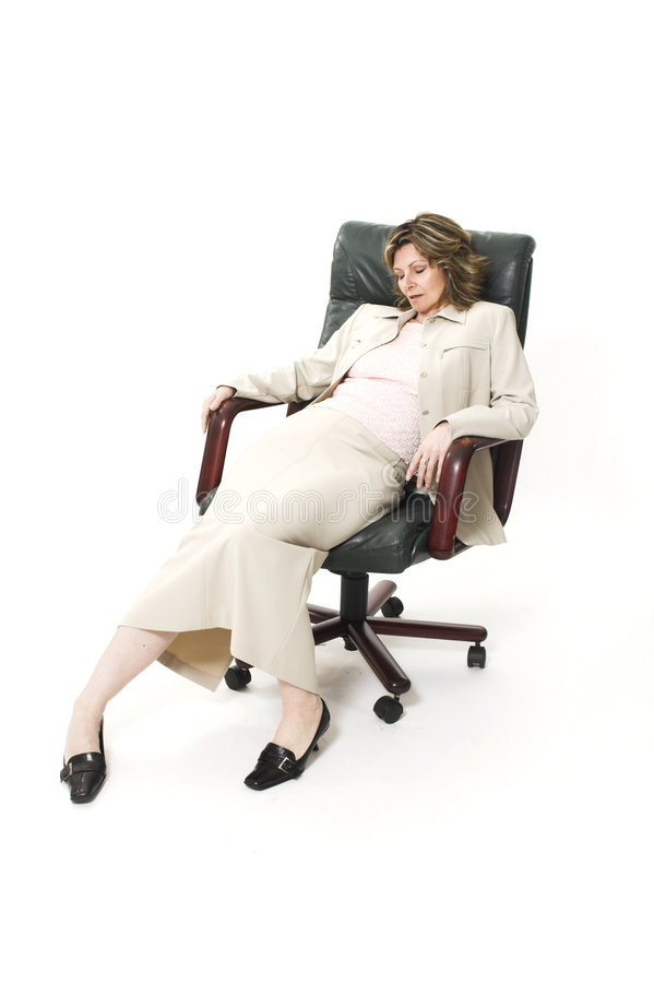 Postura do mau da mulher foto de stock