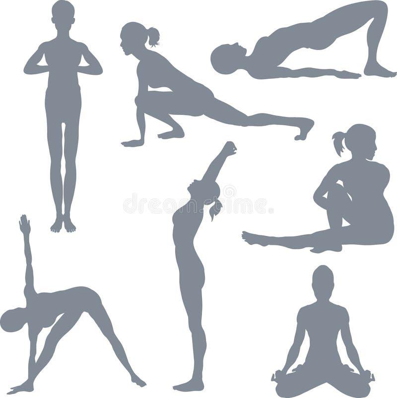 Posturas de la yoga ilustración del vector