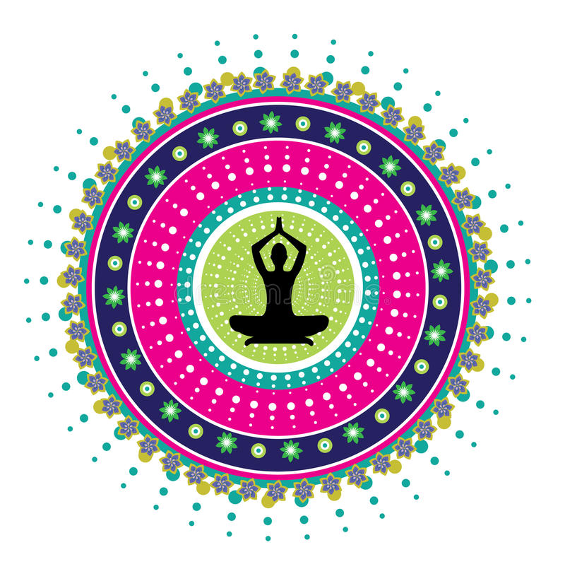 Posture de lotus de yoga illustration de vecteur