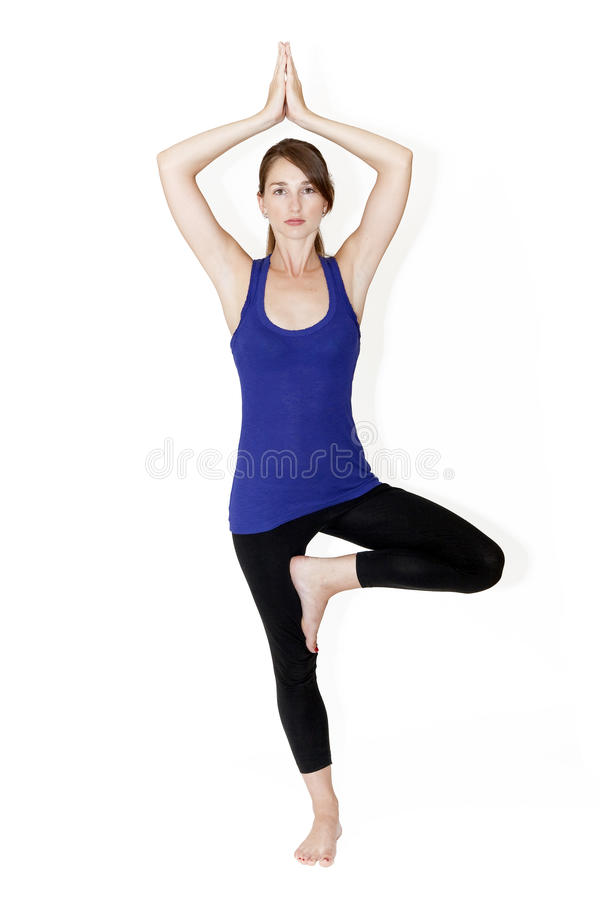 Posture of the tree in yoga