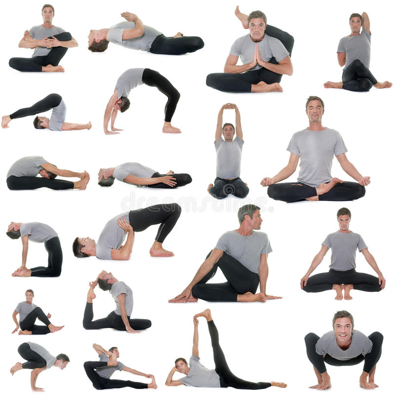 Postures of yoga royalty free stock images