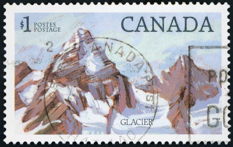 Postzegel - de Gletsjer van Canada royalty-vrije stock foto's