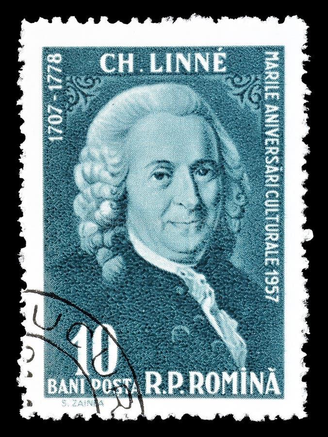 Postzegel die door Roemeni? wordt gedrukt stock fotografie