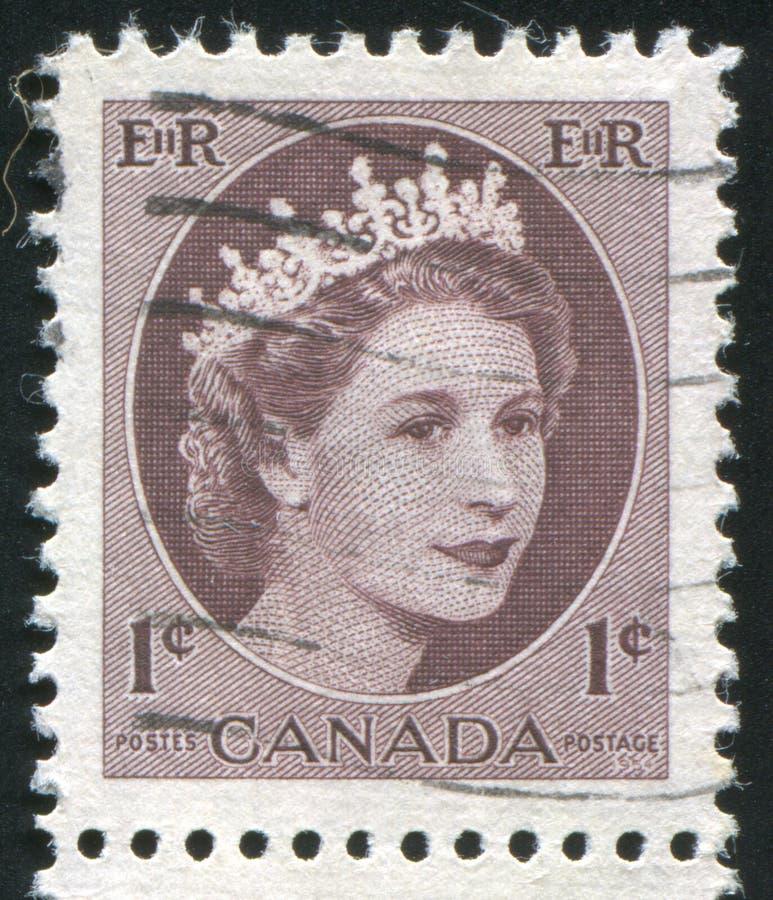 postzegel door Canada wordt gedrukt dat royalty-vrije stock foto